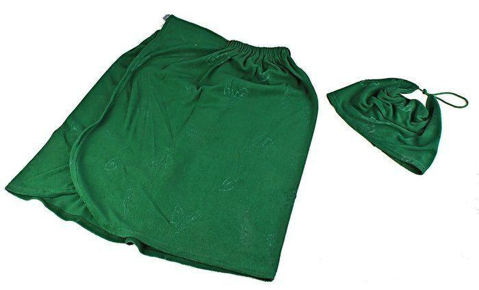 Шапочка для бани  из махрового полотенца 3